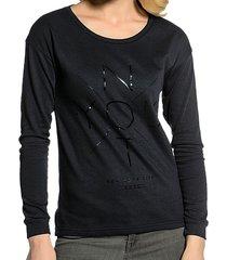 broadway donkerblauwe sweater