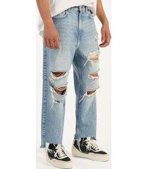 loose fit jeans met scheuren