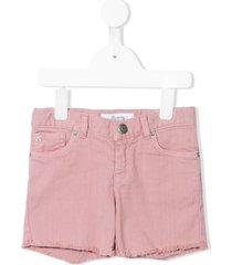 bonpoint fringe denim shorts - pink