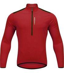 los hombres pro cycling jersey de manga larga de bicicleta mtb bike camiseta traje vestido rojo