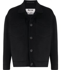 acne studios oversized button-up jacket - black