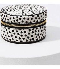 loft dot print hair calf jewelry case