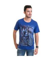 camiseta masculina manga curta estampada 30878