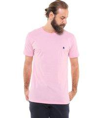 camiseta polo wear bordado rosa - rosa - masculino - algodã£o - dafiti