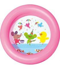 piscina inflável kiddie 2 anéis 21 l rosa