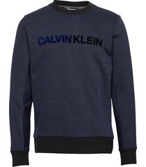t on t logo sweatshirt sweat-shirt trui blauw calvin klein