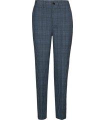 suiting pants pantalon met rechte pijpen blauw ganni