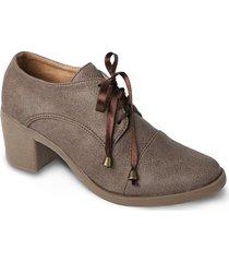 calzado tipo botín goma - cocoa