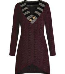 plus size cable knit asymmetric longline sweater