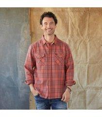 sundance catalog men's dodge plaid shirt in blue xl