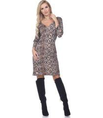 white mark women's vivian snake print dress