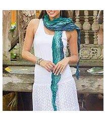 silk scarf, 'summer rain' (thailand)