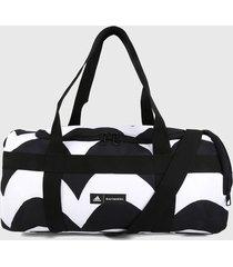maletín negro-blanco adidas performance marimekko laine allover