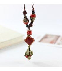 collana etnica in ceramica a goccia waterdrop necklace collane personalizzate regolabili vintage per donna