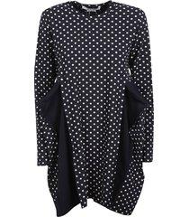 polka dots printed dress dress