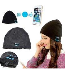 1 set - wireless beanie bluetooth smart cap headphone headset speaker mic