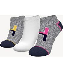 tommy hilfiger women's ankle sock 3pk peacoat/multi -