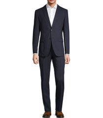 john varvatos star u.s.a. men's standard-fit wool suit - navy - size 44 r