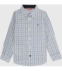 camisa blanco-azul-gris boboli