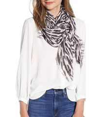 women's allsaints tear square scarf, size one size - black