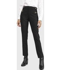 pantalón calvin klein negro - calce regular
