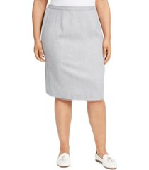 alfred dunner plus size primrose garden lace-trim skirt