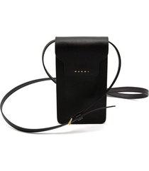 trunk phone case crossbody bag in black