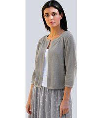 vest alba moda grijs::zilverkleur