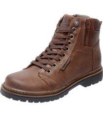 bota coturno em couro mega boots 6016 caramelo - caramelo - masculino - dafiti