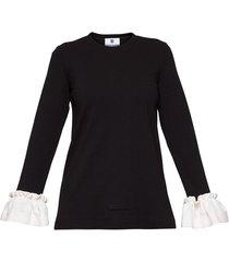 bluzka falbany czarna