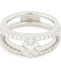 'art deco' diamond 18k white gold ring