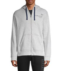 hurley men's tropical mindstate graphic hoodie - black - size s