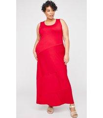 elmhurst seamed maxi dress