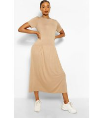 drop waist midaxi dress, camel