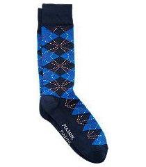 travel tech argyle mid-calf socks, 1-pair