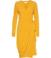 imeldaiw wrap dress jurk knielengte geel inwear