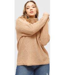 sweater brave soul camel - calce regular