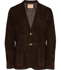 ajmone suede blazer - brown