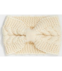 maurices womens ivory cable knit knotted headband beige