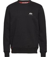 basic sweater small logo sweat-shirt tröja svart alpha industries