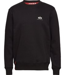 basic sweater small logo långärmad tröja svart alpha industries