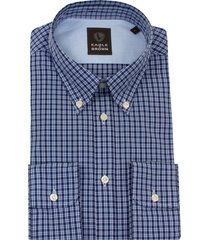 eagle & brown overhemd casual ruitje donkerblauw