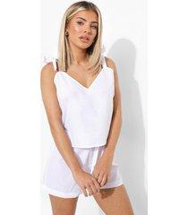 mix & match licht pyjama hemdje, white