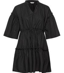 huilaus solid dress korte jurk zwart marimekko