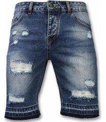 korte broek enos korte broeken - slim fit ripped shorts -