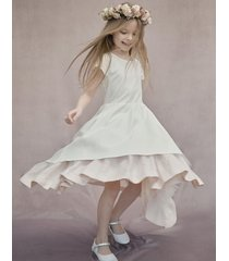sukienka z tiulem i lnem