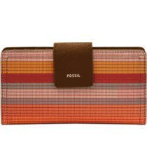 fossil women's logan tab clutch wallet