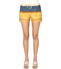 alberta ferretti cotton shorts