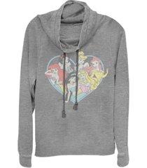 juniors disney princesses princess heart cowl neck sweater