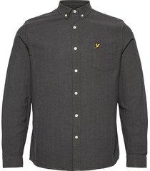 brushed herringb shirt skjorta casual grå lyle & scott